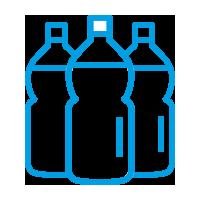Bottigli di plastica